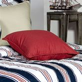 On Course Red Piped Pillow 17 Square