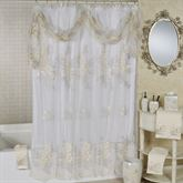 Bloomfield Sheer Embroidered Shower Curtain Eggshell 72 x 72