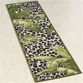 Exotic Safari Rug Runner Green 111 x 76