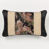 Barbados Pieced Pillow Black Rectangle