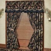Barbados Wide Tailored Curtain Pair Black 100 x 84