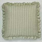 Veranda European Pillow with Ruffled Sham Tarragon