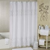 Morocco Sheer Lined Shower Curtain Off White 70 x 72
