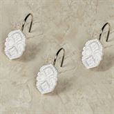 Morocco Shower Hooks Off White 12 Piece Set