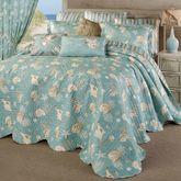 Seabreeze Grande Bedspread Set Aqua