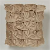 Seabreeze Layered Tailored Pillow Dark Beige 16 Square