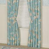 Seabreeze Tailored Curtain Pair Aqua