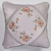 Romantica Embroidered Pillow Wisteria 18 Square