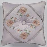 Romantica Tufted Embroidered Pillow Wisteria 18 Square