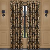 Toscano Wide Lined Curtain Pair Black 100 x 84