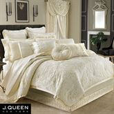 Marquis Damask Comforter Set Pearl
