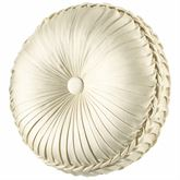 Marquis Pleated Tufted Pillow Pearl Round