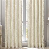 Marquis Damask Wide Curtain Pair Pearl 100 x 84