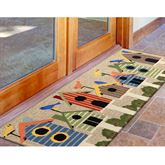 Birdhouses Rectangle Mat Multi Bright 60 x 24