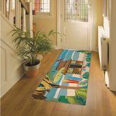 Tiki Hut Rectangle Mat Multi Bright 60 x 24