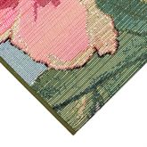 Tropical Floral Rug Runner Multi Bright 111 x 76