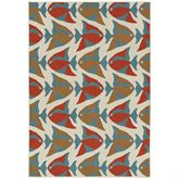 Meilani Fish Rectangle Rug Multi Cool