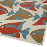 Meilani Fish Rug Runner Multi Cool 22 x 8