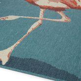 Raeni Flamingo Rug Runner Light Blue 22 x 8