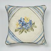 Marquette Embroidered Pillow Buttercream 18 Square