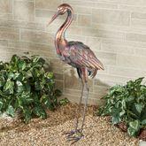 Serenade Crane with Head Down Sculpture Copper