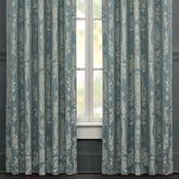 Nicolette Wide Tailored Curtain Pair Blue 100 x 84