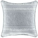 Riverside Reversible Striped Pillow Aqua Mist 20 Square