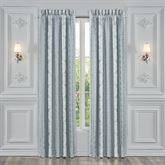 Riverside Wide Lined Curtain Pair Aqua Mist 100 x 84