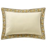 Amalia Embroidered Flanged Pillow Multi Warm Rectangle