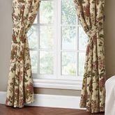 Amalia Wide Tailored Curtain Pair Multi Warm 100 x 84