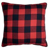 Bear Campfire Reversible Accent Pillow Red 18 Square