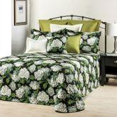 Hydrangea Onyx Bedspread Black