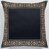 Kensington European Pillow with Sham Black