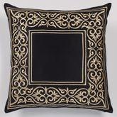 Kensington Tailored Pillow Black 18 Square