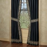 Kensington Tailored Curtain Pair Black