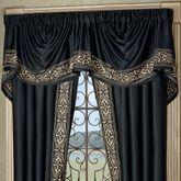 Kensington Empire Valance Black 110 x 28