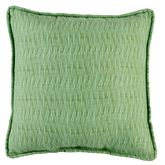 Serenity Light Green Piped Pillow 17 Square