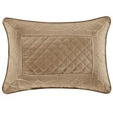 Decade Piped Pillow Gold Rectangle