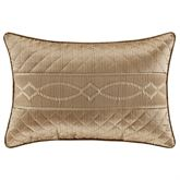 Decade Quilted Pillow Gold Rectangle