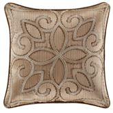 Decade Embroidered Pillow Gold 18 Square