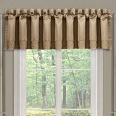 Decade Lined Tailored Valance Gold 88 x 18