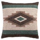 Sierra Vista Quilted Tailored Pillow Multi Warm 18 Square