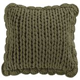 Bear Panels Knitted Flanged Pillow Multi Warm 14 Square