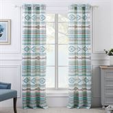 Phoenix Grommet Curtain Pair Multi Cool 84 x 84