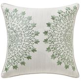 Audrey Embroidered Medallion Pillow Ivory 16 Square