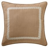 Audrey Piped Framed Pillow Mocha 20 Square