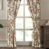 Audrey Wide Lined Curtain Pair Multi Warm 100 x 84