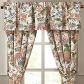 Audrey Lined Tailored Valance Multi Warm 80 x 17