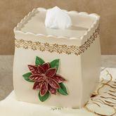 Poinsettia Grace Tissue Cover Light Cream