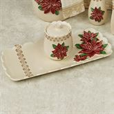 Poinsettia Grace Tray Only Light Cream